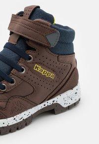 Kappa - LITHIUM UNISEX - Hiking shoes - brown/navy - 5