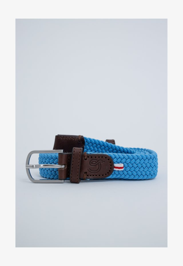 Braided belt - light blue
