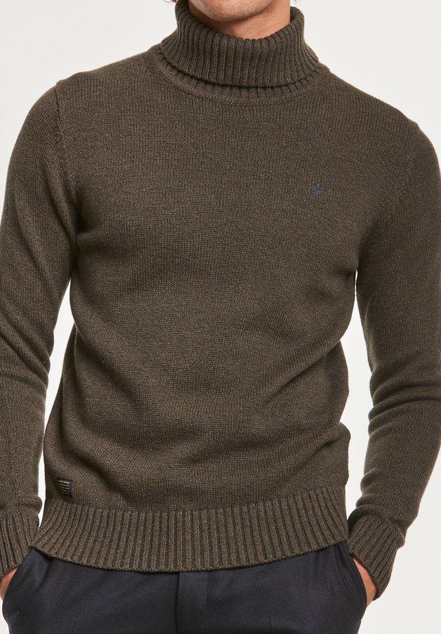 NEWTON - Stickad tröja - olive