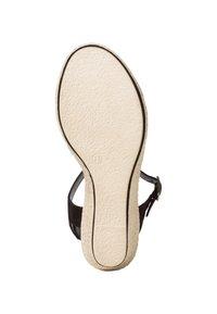 Marco Tozzi - Wedge sandals - black comb - 3
