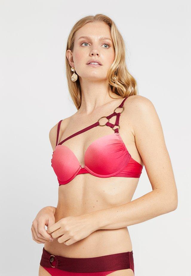 RINGS PLUNGE - Bikini pezzo sopra - pink