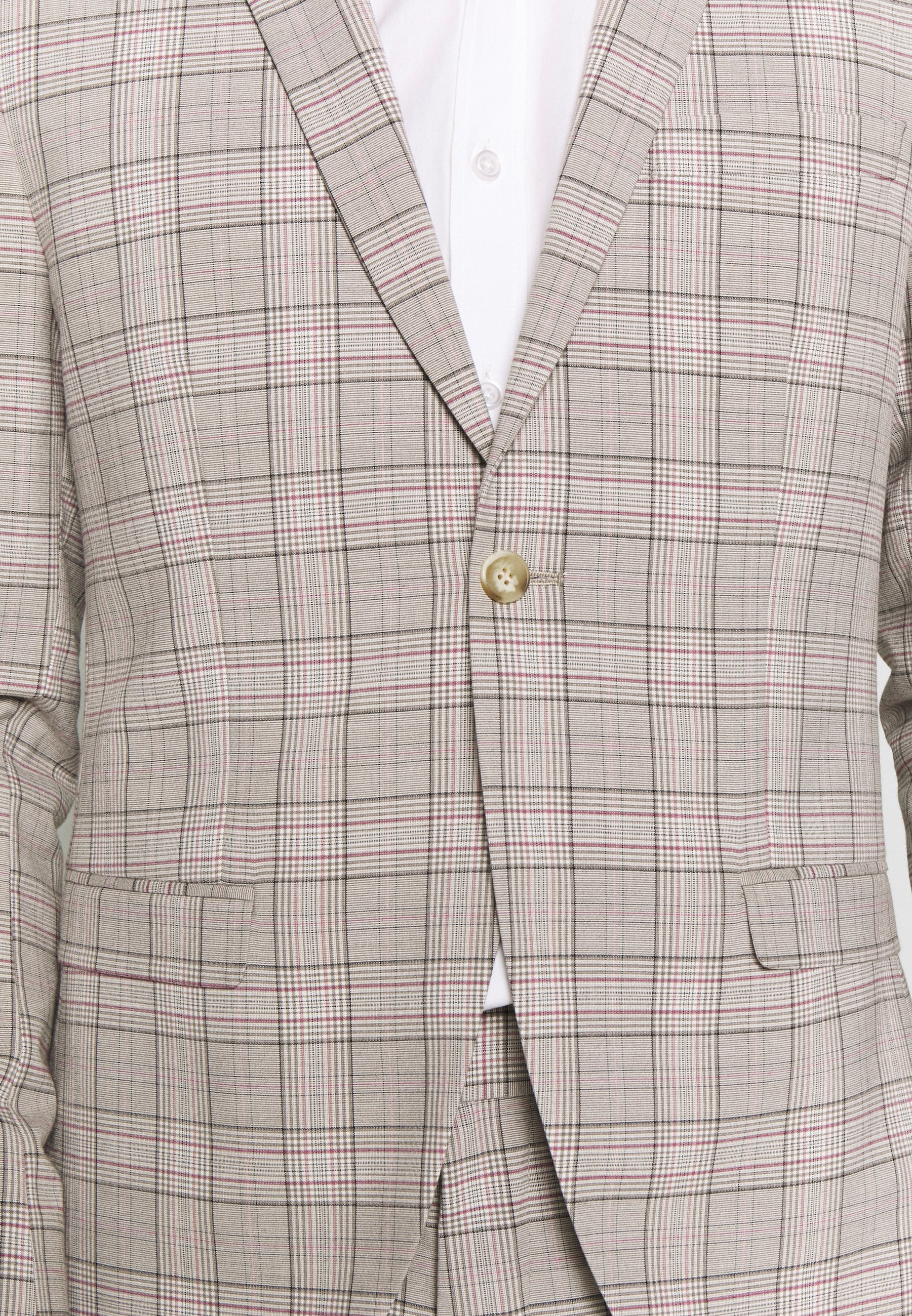 Isaac Dewhirst PINK CHECK SUIT WEDDING - Costume - grey