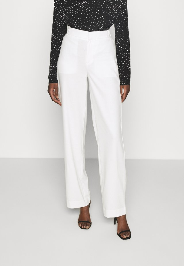 WIDE LEG - Trousers - transition cream