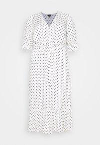 City Chic - DRESS SPOTTY TIER - Shirt dress - white - 4