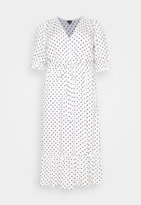 DRESS SPOTTY TIER - Blusenkleid - white