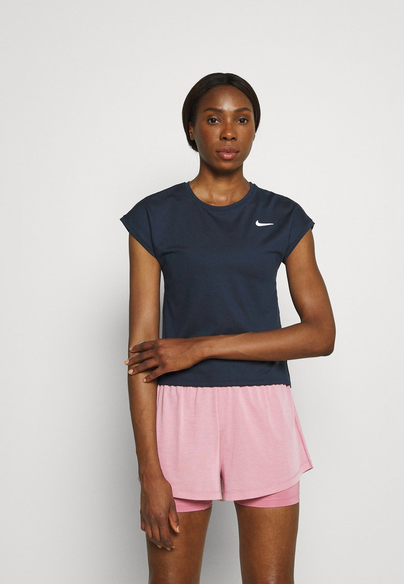 Nike Performance - T-shirt basic - obsidian/white