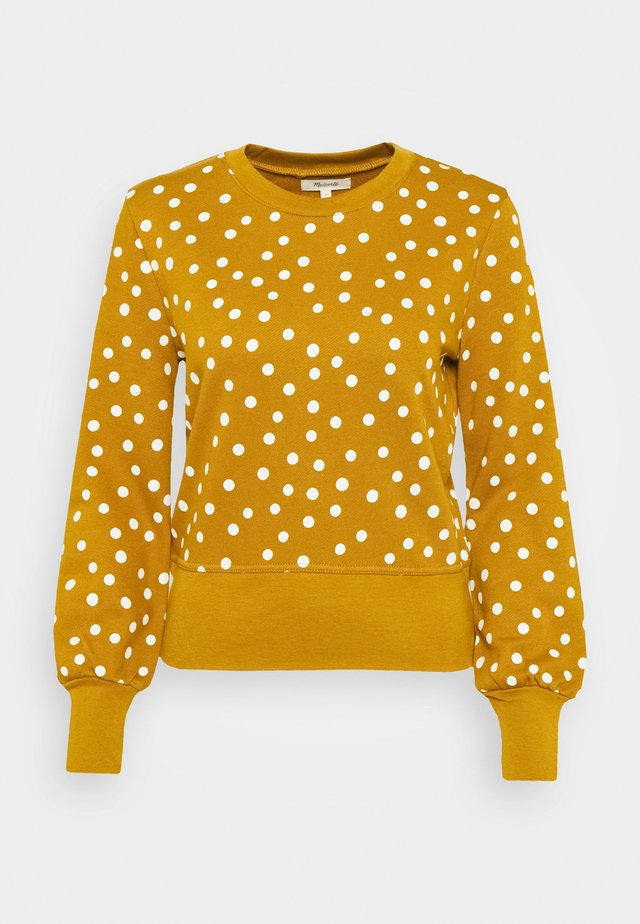 BASTILLE IN POLKA DOT - Sweatshirt - egyptian gold