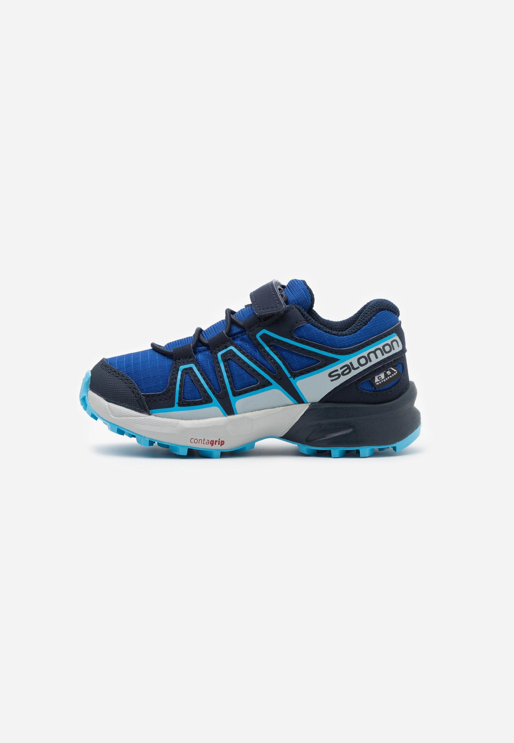 3 Salomon Kids Speedcross CSWP J Hiking Surf The Web//Navy Blazer//Ethereal Blue