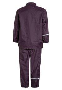 CeLaVi - RAINWEAR SUIT BASIC SET WITH FLEECE LINING - Rain trousers - blackberry wine - 2
