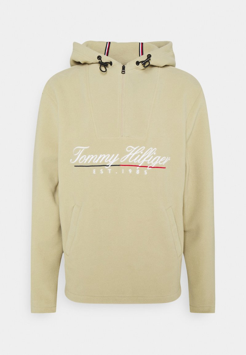 Tommy Hilfiger - SCRIPT POPOVER UNISEX - Fleece jacket - desert tan