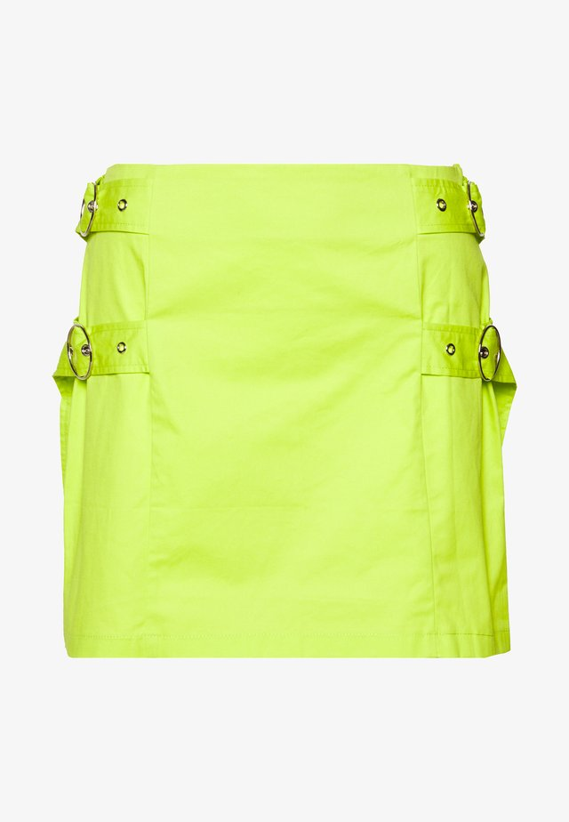 SKIRT SIDE BUCKLES - Minirock - lime