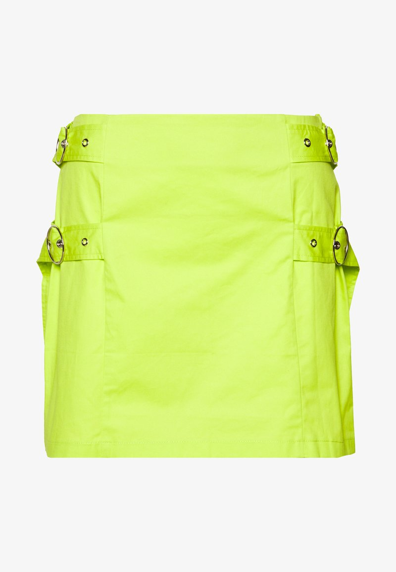 The Ragged Priest - SKIRT SIDE BUCKLES - Mini skirt - lime