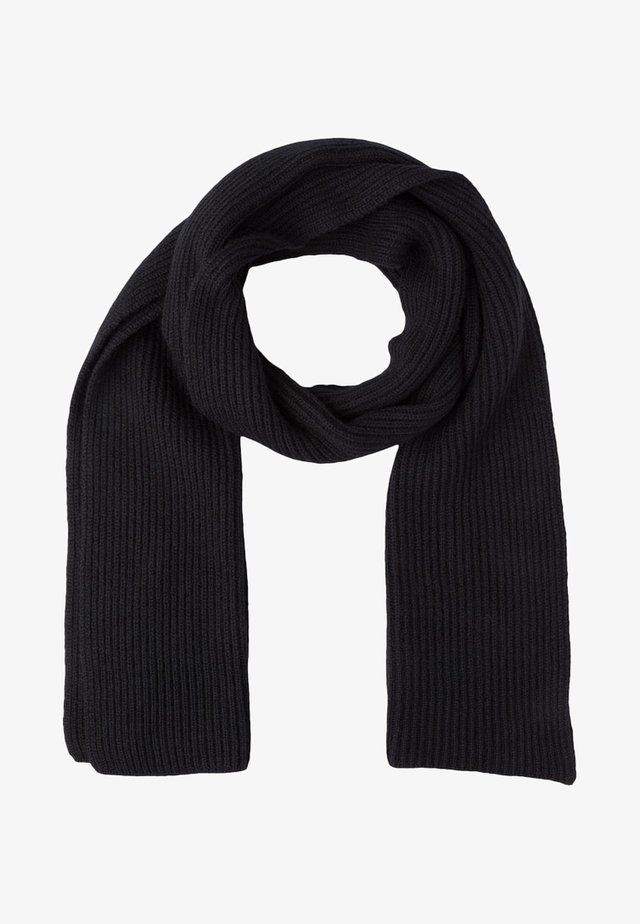 RIBBED CASHMERE SCARF - Scarf - black