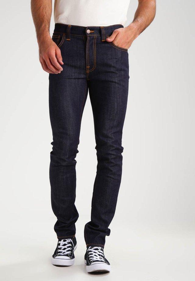 THIN FINN - Jean slim - organic dry ecru embo