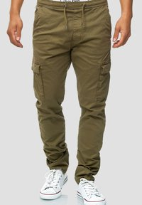 INDICODE JEANS - BROADWICK - Cargo trousers - army - 0
