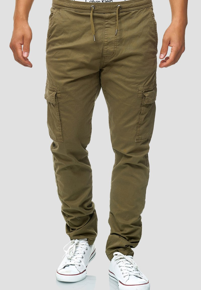 INDICODE JEANS - BROADWICK - Cargo trousers - army