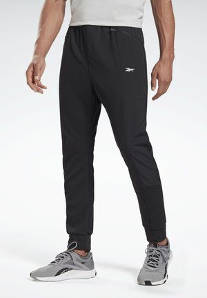 KNIT-WOVEN TRACKSUIT BOTTOMS - Pantaloni sportivi - black