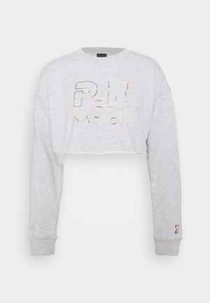 HEADS UP METALLIC CROPPED - Sweatshirt - grey marl