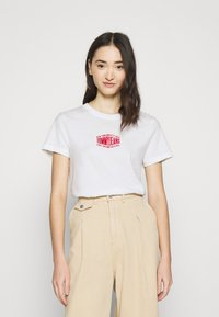Tommy Jeans - LOGO TEE - Print T-shirt - white - 0
