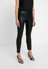 ONLY - ONLSIA PANT - Trousers - black - 0