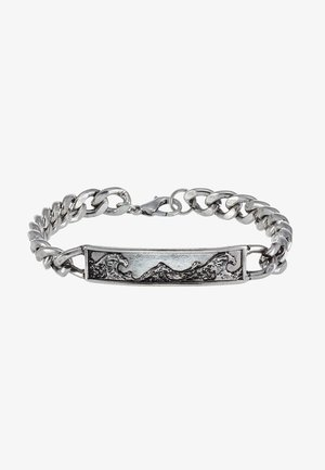 GREAT WAVE CHAIN BRACELET - Bracciale - silver-coloured