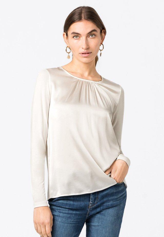 T-shirt à manches longues - creme