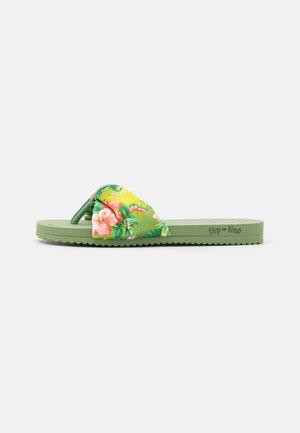 POOLY TROPICS - T-bar sandals - sage