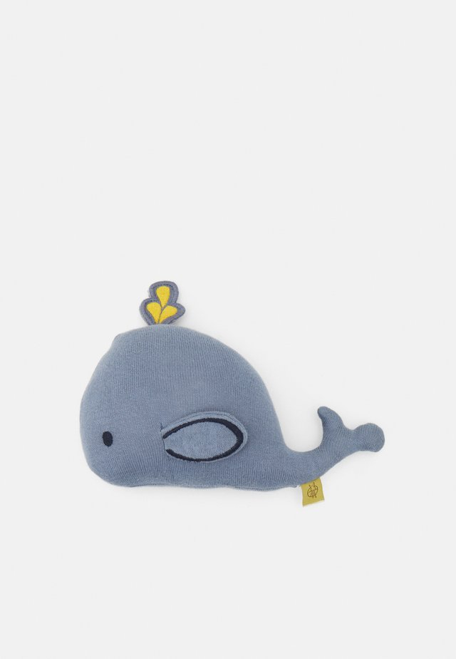 TOY WITH RATTLE CRACKLE LITTLE WATER WHALE UNISEX - Knuffel - blue