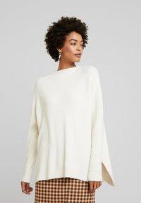 Culture - CUOLIVIA  - Stickad tröja - whitecap melange - 0