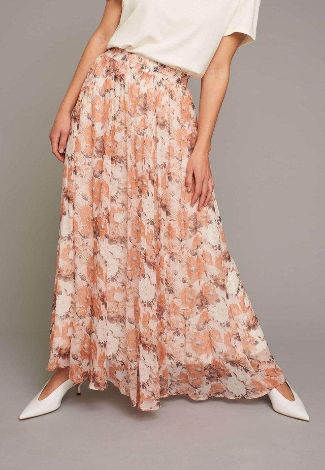 RUFFLED SKIRT - Pleated skirt - flower print