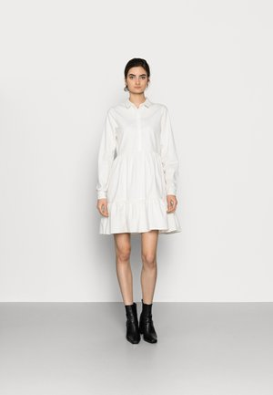 VMMARIA FRILL DRESS - Denimové šaty - cloud dancer