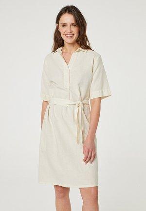 Košilové šaty - crema