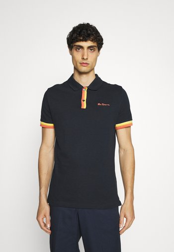 PLACKET INTEREST - Polo shirt - midnight