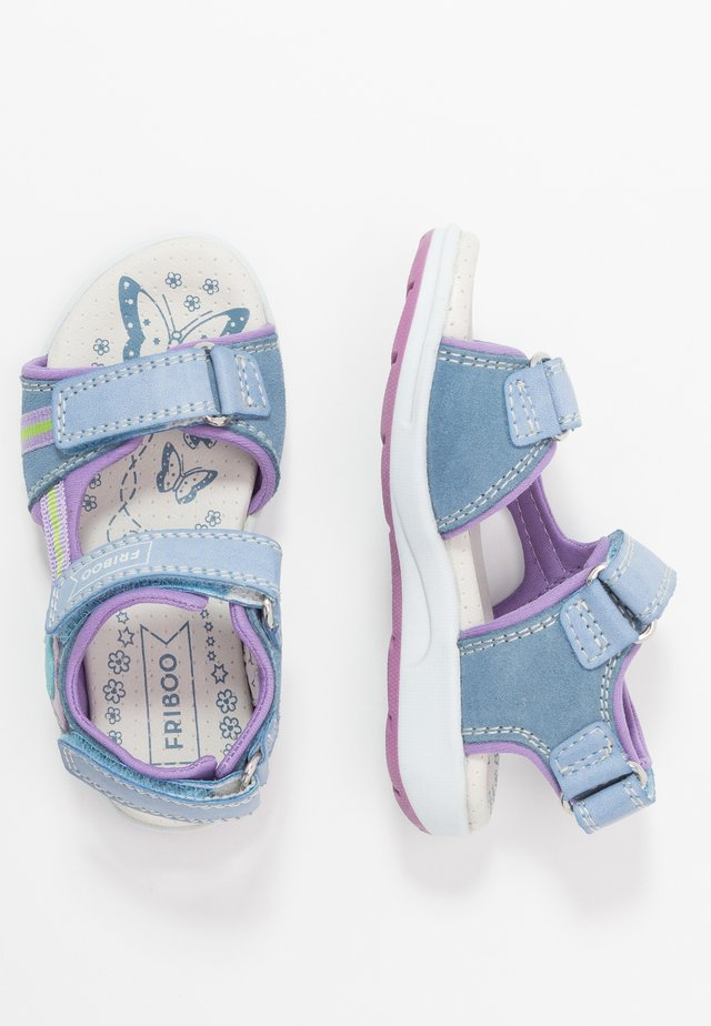 Walking sandals - light blue