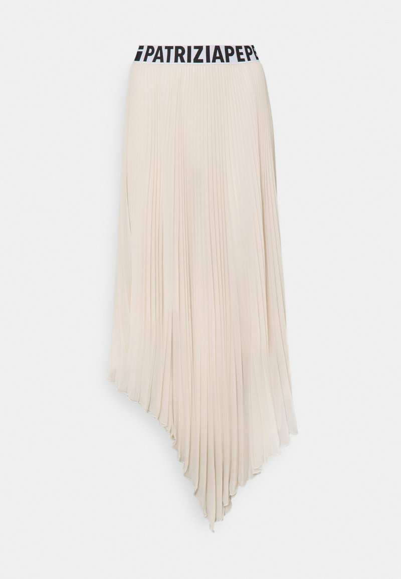 Patrizia Pepe - GONNA SKIRT - Pleated skirt - doll beige