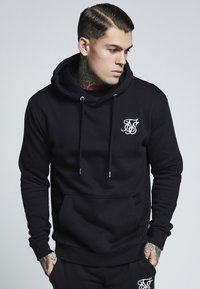 SIKSILK - MUSCLE FIT OVERHEAD HOODIE - Huppari - black - 0