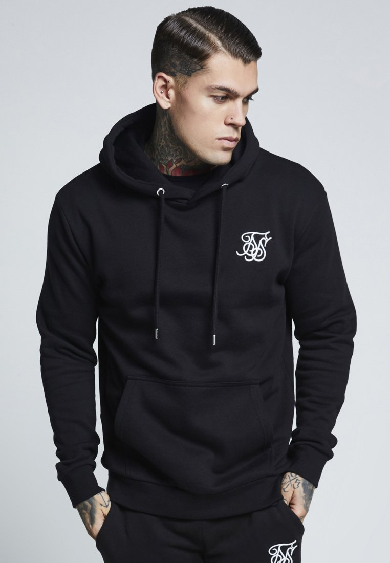 SIKSILK - MUSCLE FIT OVERHEAD HOODIE - Huppari - black