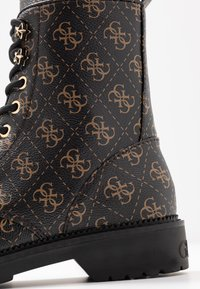 Guess - TALISI - Lace-up ankle boots - brown/ocra - 2