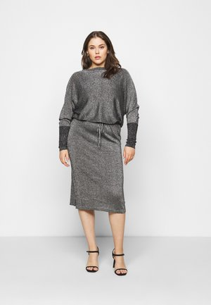 METALLIC DRESS - Robe d'été - black/silver-coloured