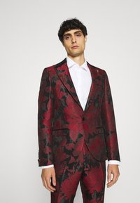 Twisted Tailor - LORRIS SUIT - Oblek - black/red - 2