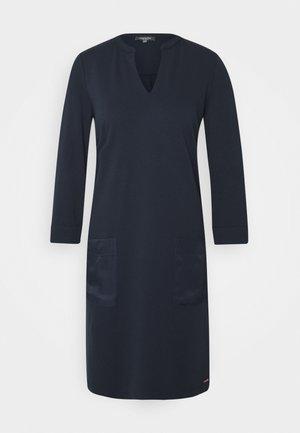 DRESS POCKETS STRAIGHT - Jersey dress - sky captain blue