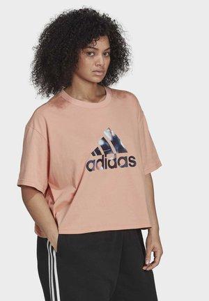 W UFORU  T - T-shirt print - pink
