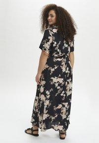 Kaffe Curve - Maxi dress - black /  rose flower print - 1