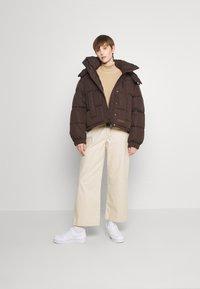 Sixth June - SHORT PUFFER JACKET HOOD - Winter jacket - brown - 1