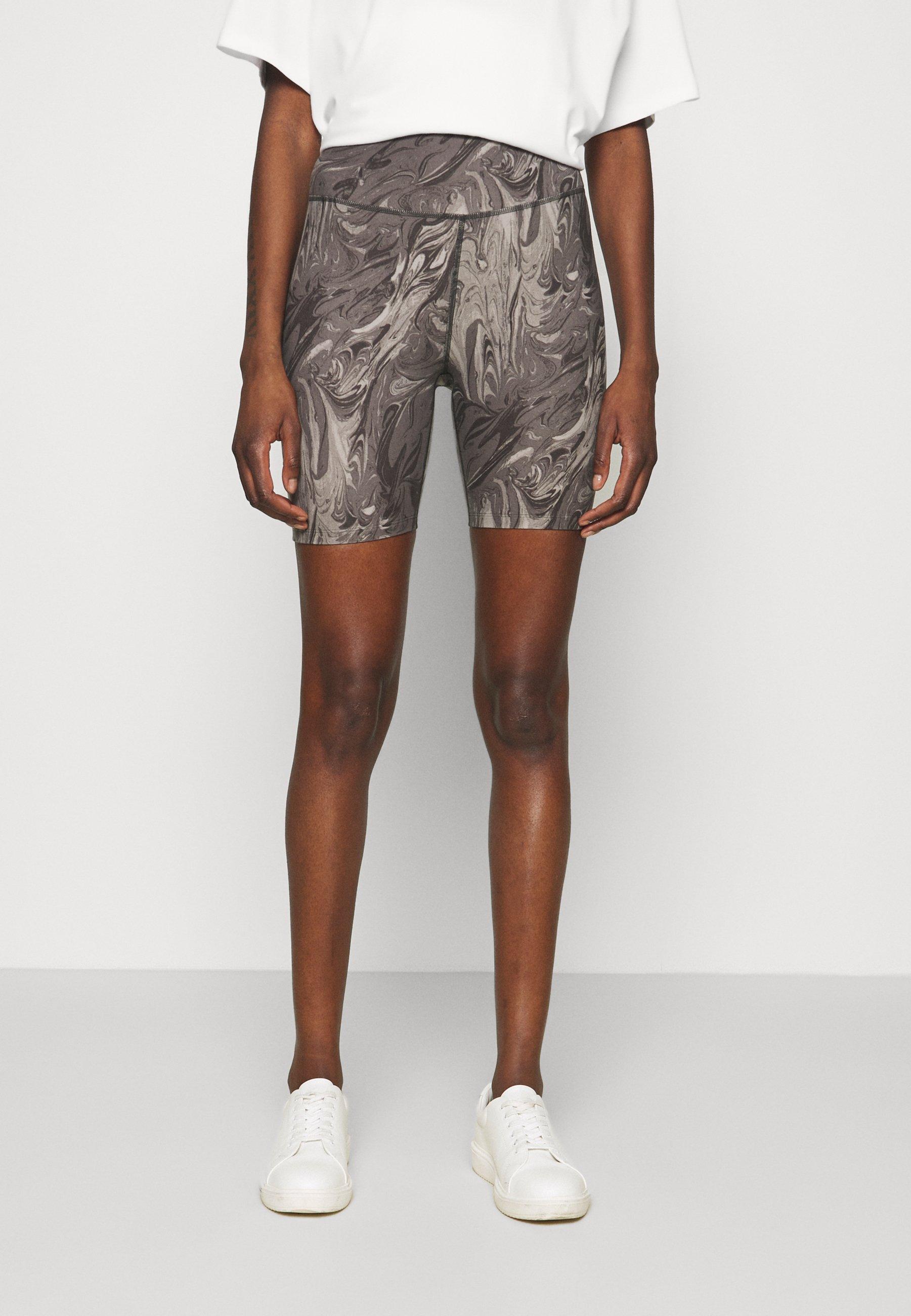 Damen KNIT BIKE SHORT - Shorts - grey marble