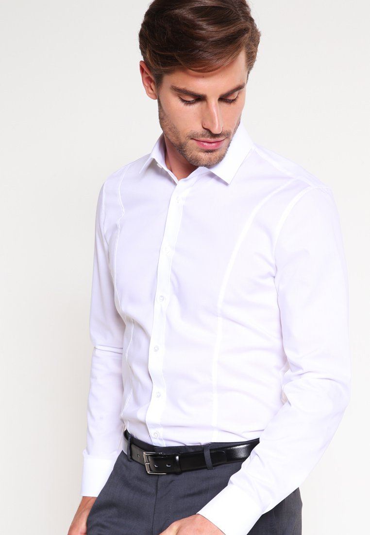OLYMP - OLYMP NO.6 SUPER SLIM FIT - Camicia - weiss