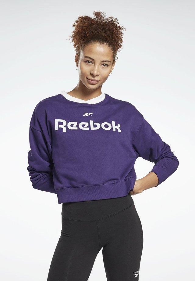 LINEAR LOGO CREW SWEATSHIRT - Sweatshirt - purple
