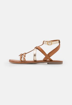Sandales - nut/gold