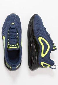 Nike Sportswear - AIR MAX 720 - Sneakers laag - midnight navy/black/lemon - 0