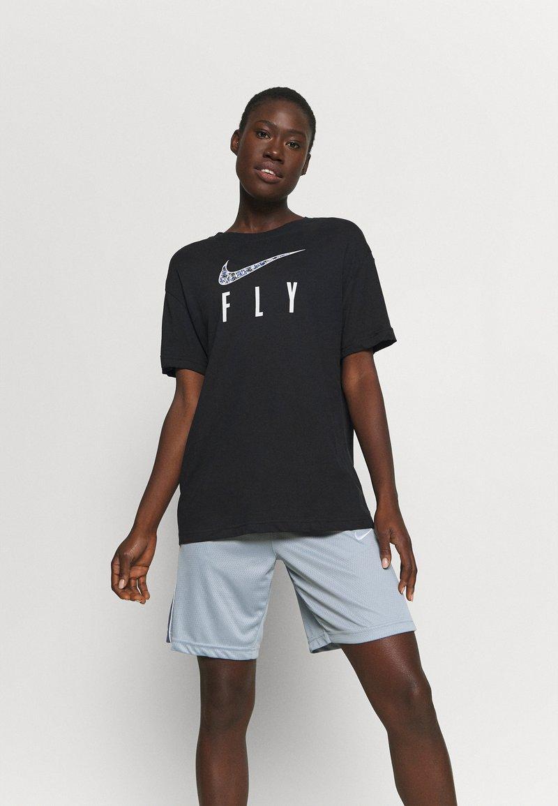 Nike Performance - DRY FLY TEE - Print T-shirt - black